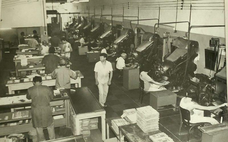 Linotec - Produção editorial em 1985.